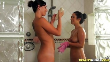 Reality Kings - Lesbians Wash Each Other In The Shower - We Live Together